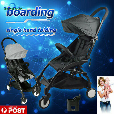 Pram Lightweight Baby Stroller Foldable Pushchair Carry-on Travel /Board/ Plane