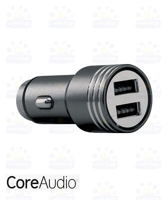 *CoreAudio Dual USB Car Charger Emergency Glass Breaker 2.4AMPS-BLACK COLOUR