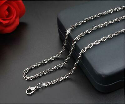 316L Stainless Steel Cross Double Button Chain Necklace Fashion Men/Women Gift