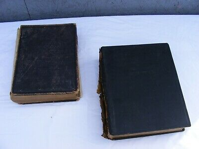 job lot old/vintage/antique bible books x 2 - tatty condition but still readable