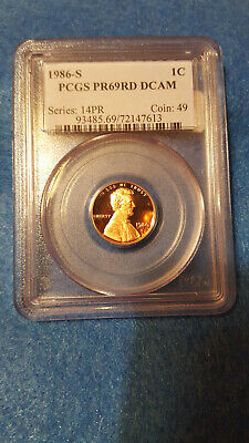 1986-S Lincoln Cent Proof 69 Red DCAM – PCGS #72147613