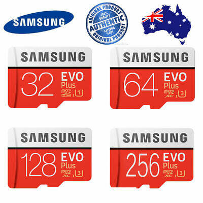 Samsung 32GB 64GB 128GB 256GB micro SD Evo Plus Memory Card Melbourne AUS stock