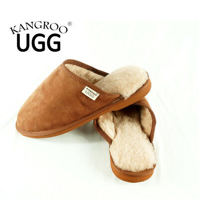 New Cozy Unisex Wool Australia Winter Warm Sheepskin Kangroo® Ugg Slipper Scuffs