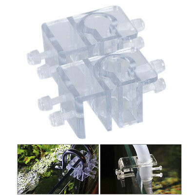 1/2pcs Acrylic Pipe Holder Fix Bracket Hook Aquarium Lily Pipe filter Accessory