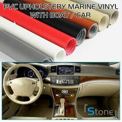 """PVC Vinyl Fabric Upholstery Faux Leather Automotive Boat Marine Repaired 54""""W"""