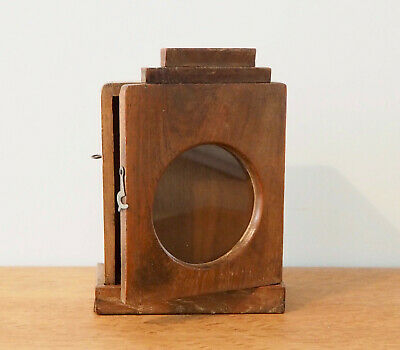 Vintage Indian Art Deco Clock box made from reclaimed teak
