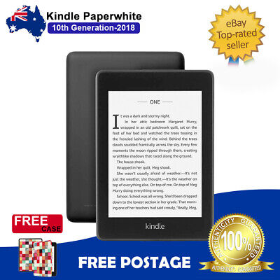 """Amazon Kindle Paperwhite 10th Gen WiFi E-Reader Waterproof 6"""" Display with Case"""