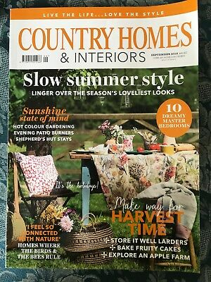 Country Homes & Interiors Magazine September 2018 (Good Condition)