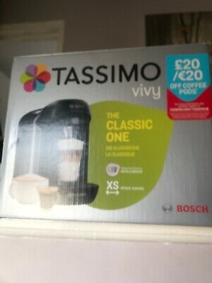 Bosch Tassimo Vivy Classic Compact Coffee Tea Drinks Capsule Machine #TAS12A2GB