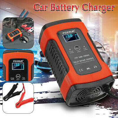 Car Battery Charger 12V 5A LCD Intelligent Automobile Motorcycle Pulse Repair ~