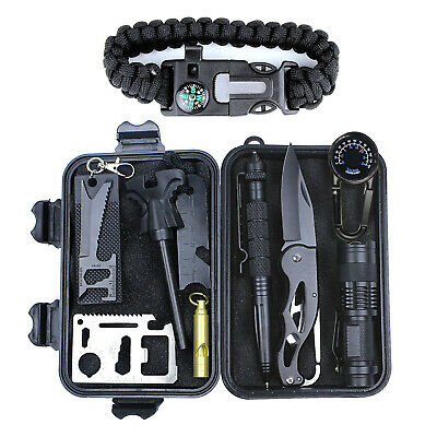 Outdoor Survival Kit First Aid Set Tactical SOS EDC Emergency Kit Tools+Box NEW