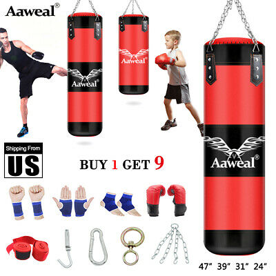 Unfilled Heavy Boxing Punching Bag Training Gloves Speed Set Kicking MMA Aaweal