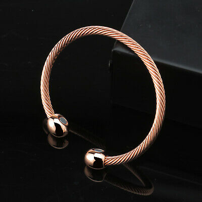 Magnetic Bracelet Unisex Magnet Bangles Copper Therapy Healing Wristband Gift