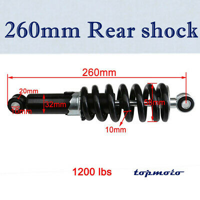 260mm Rear Shock Absorber 1000-1200lbs Spring Suspension Dirt Bike Motorcycle
