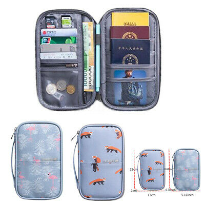 RFID Blocking Travel Wallet Storage Bag Passport Card Document Organizer Holder