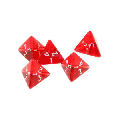 Dice Red Dragons TRPG Game/Acrylic Multi Sided D4 Dungeons Durable High Quality