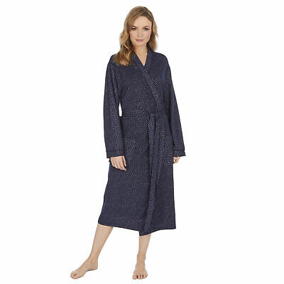 Women Ladies Polka Dot Dressing Gown Robe Spotty Dotted Lightweight Summer Comfy