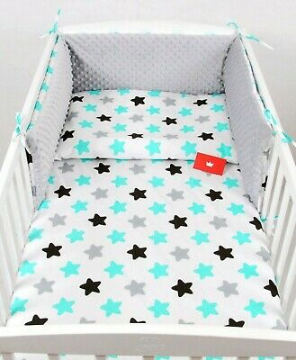 COT BED BABY BEDDING-BUMPER-PILLOW-QUILT COVERS 140X70cm 3 PIECES NURSERY