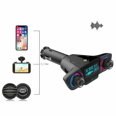 Bluetooth Handsfree Car Transmitter Modulator Aux Audio USB Music Player LU
