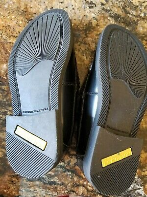 Kenneth Cole Reaction Loafers Penny Boys Shoes Black Leather Dress Up Size 13c