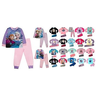 Disney Frozen Queen Elsa Princess Anna Olaf Pyjamas kids Girls Pjs Set Size