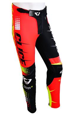 LARGE Clice Trials Trousers Bottoms RED BLACK FLORESCENT YELLOW BETA GAS GAS