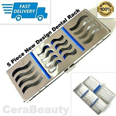 Sterilization Cassette Rack Tray Holds 5 Dental Surgical Instruments Autoclave