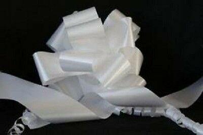 10mts x White Waterproof Florist Ribbon Crafts Flowers Bows 50mm Wrap