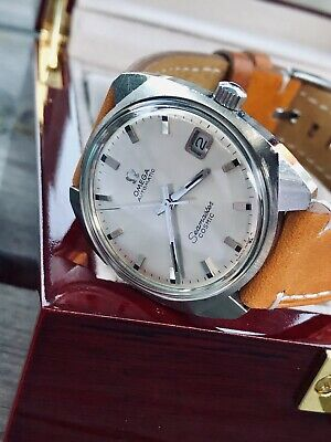 Omega Seamaster Cosmic Date Automatic vintage mens 1967 steel watch + Box