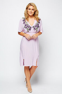 4cf4385a84c93 ASOS LILAC EMBROIDERED Floral Lace Mesh Mini Evening Cocktail Dress ...