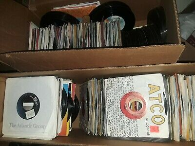 Lot 100 45 RPM Records 50s 60s 70s 80s 90s Asstd Genres Cond G-NM FREE SHIP