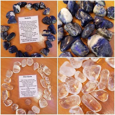 Large Crystal Tumble Stones Various available - buy 4 get one free polished