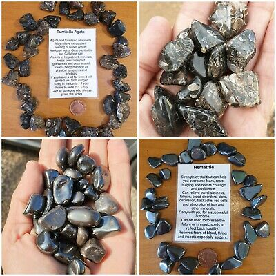 Crystal Tumble Stones Various available - buy 4 get one free Quartz, tigers eye