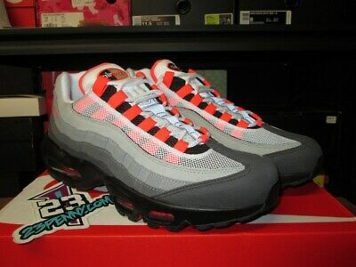 New Nike Air Max 95 Og White Solar Red Neutral Grey At2865 100 Mens Am95