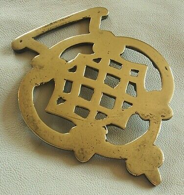 A Rare 19Th Century Cast Pattern Horse Brass