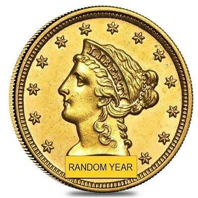 $2.5 Gold Quarter Eagle Liberty Head - Extra Fine XF (Random Year)