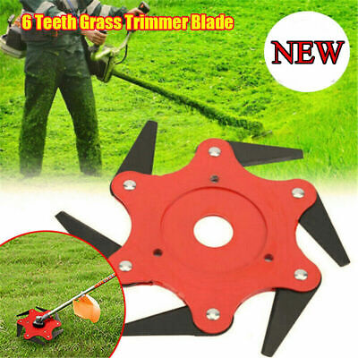 6Steel Blades Razors 65Mn Lawn-Mower Grass Eater Trimmer-Head Brush Cutter Tools