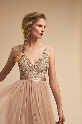 caed09ad84597 New BHLDN AVERY Sequins Blush Bridesmaid Formal Prom Sz 10 MSRP $250