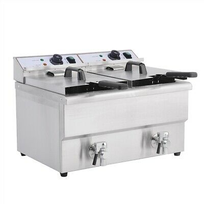 Commercial Twin Fryer Table Top 8L Chip Double Imettos 101008