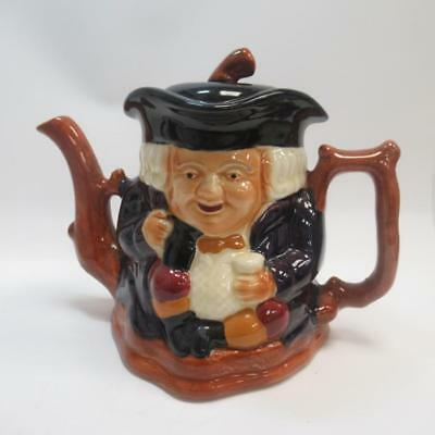 Shorter & Sons Toby Jug Teapot - Hand Painted - Made in Staffordshire England