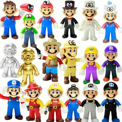 2020 Gifts Cute Odyssey Super Mario Bros Luigi Mario Action Figures Toys New 5""