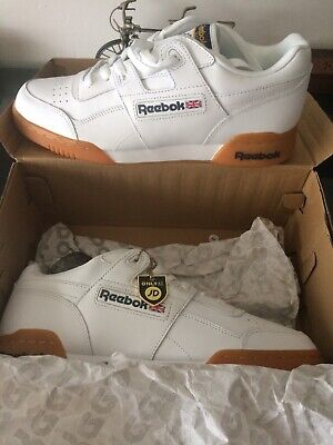 81cf5e8ad81 Reebok Workout Plus Trainerers In White Gum Sole Classic H Strap Soft  Leather.