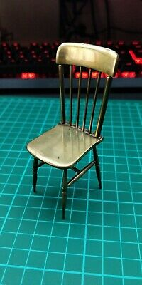 Antique Brass Miniature Chair Apprentice Piece