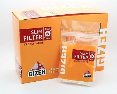 Gizeh Slim Filter 6 mm - Achtung: 40 Beutel a 120 Filter - AKTIONSPREIS