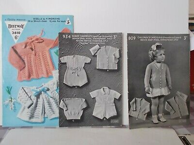 vintage BABY KNITTING PATTERNS 1940s (1950s)   (3)