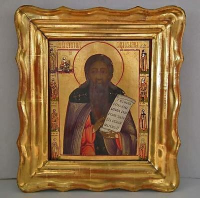 Authentic Antique 19th Century Russian Icon Very Rare Superb Nevyansk School