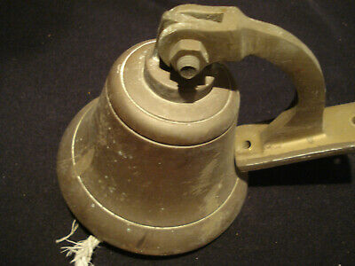 """Vintage Nautical Brass Bell with Wall Mount 4"""" Bell with 4"""" Diameter 2lb"""