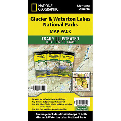 National Geographic Glacier/Waterton Map Pack