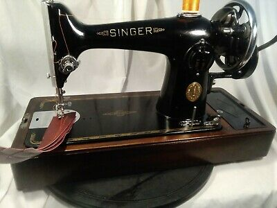 Singer 201k sewing maching, HAND CRANK OR ELECTRIC YOUR CHOICE, VIDEO,SERVICED