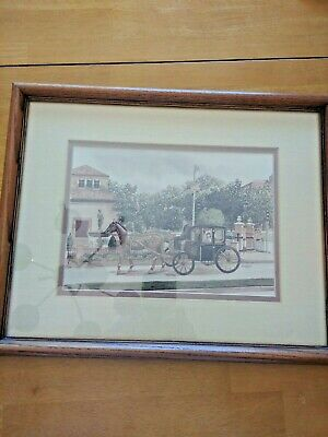 Vormehr print of Kansas City and Lawrence KU 15x12 in framed matted glass signed